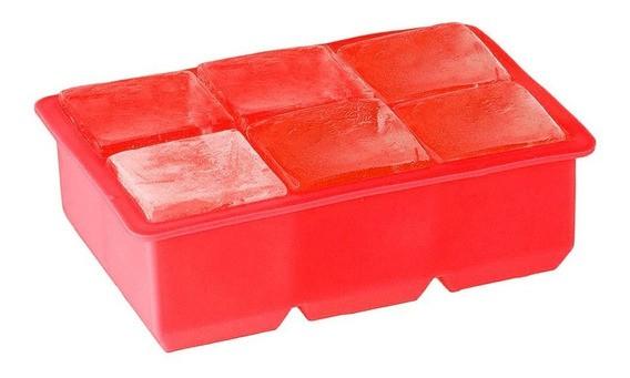 Forma de Silicone para Gelo 6 Cubos