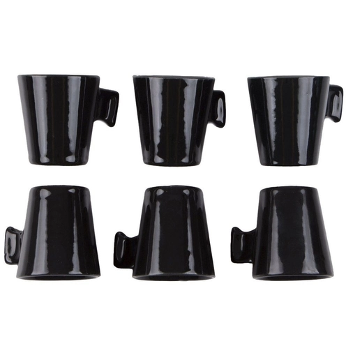 Jogo de mini canecas cerâmica BLACK