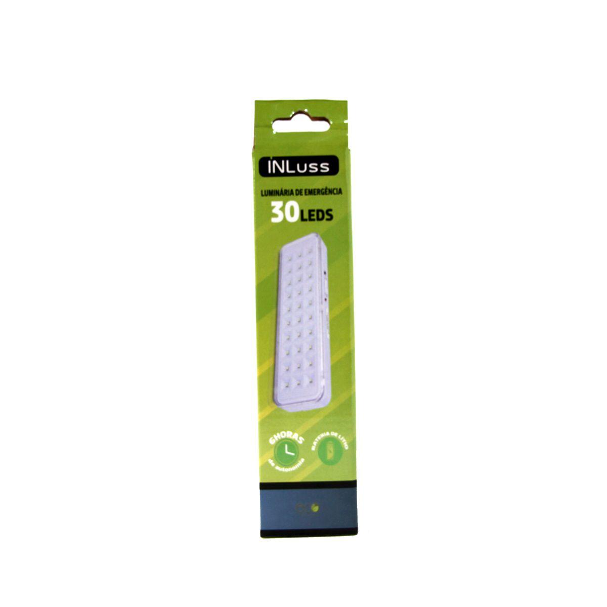 Kit 20 Luminária de Emergência 30 Led Branco Frio Bivolt