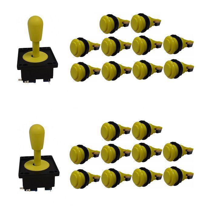Kit 2 Comandos Aegir 20 Botões De Nylon Amarelo