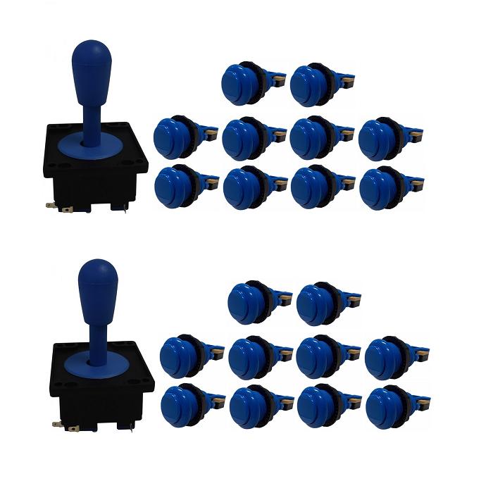 Kit 2 Comandos Aegir 20 Botões De Nylon Azul