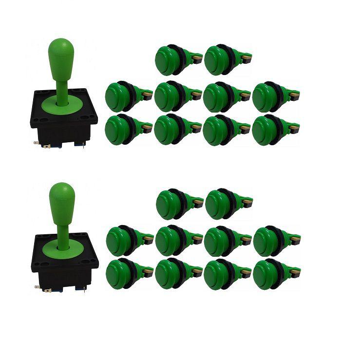 Kit 2 Comandos Aegir 20 Botões De Nylon Verde