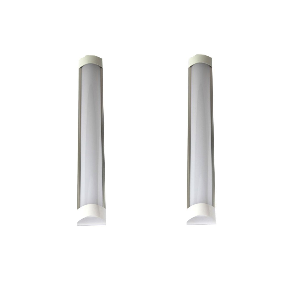 Kit 2 Luminária Led de Teto Linear 18W 60cm Branco Frio Bivolt