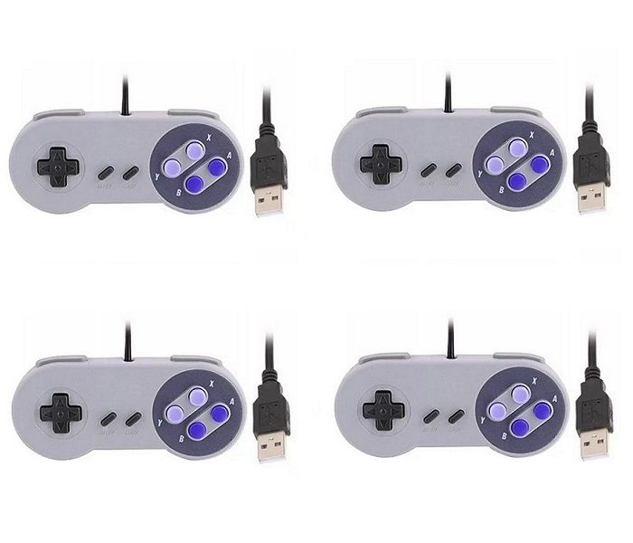 Kit 4 Controles Usb Super Nintendo Snes Joystick Windows