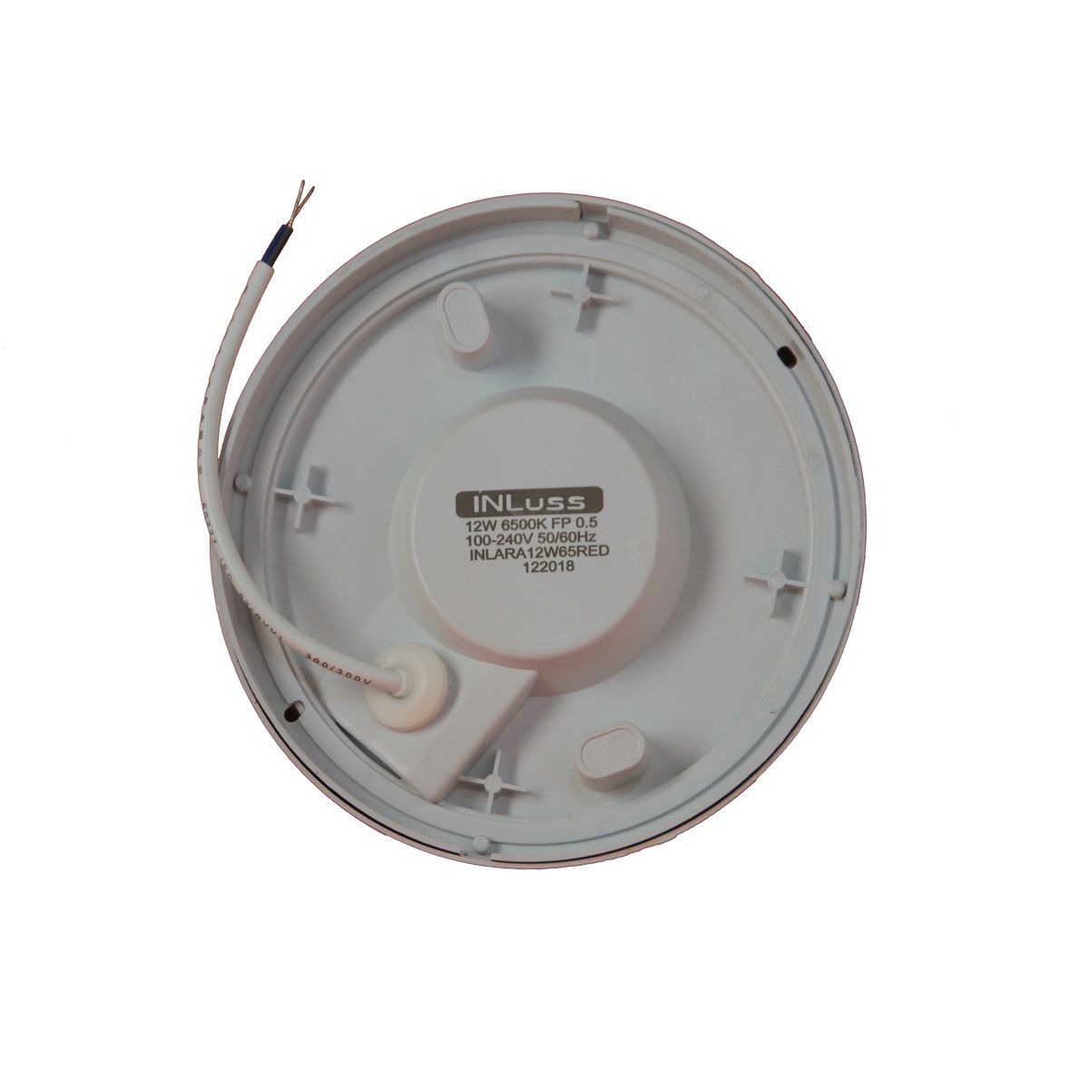 Kit 5 Luminária Led Redonda Área Externa Design Reto 12W Branco Frio Bivolt