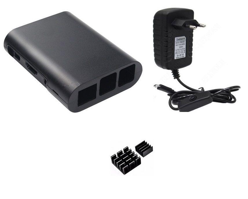 Kit acessórios P/ Raspberry Pi 3 - Case Black
