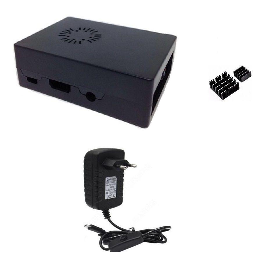 Kit Acessórios P/ Raspberry Pi 3 - Case Com Cooler