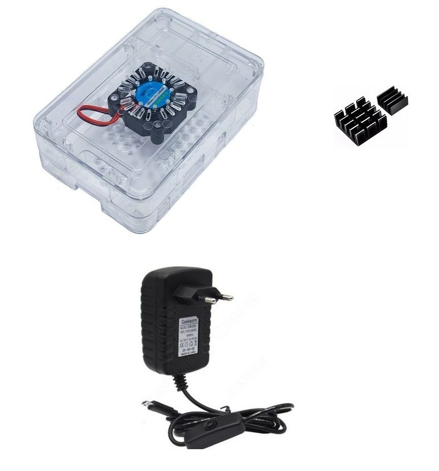 Kit Acessórios P/ Raspberry Pi 3 - Case Premium Com Cooler