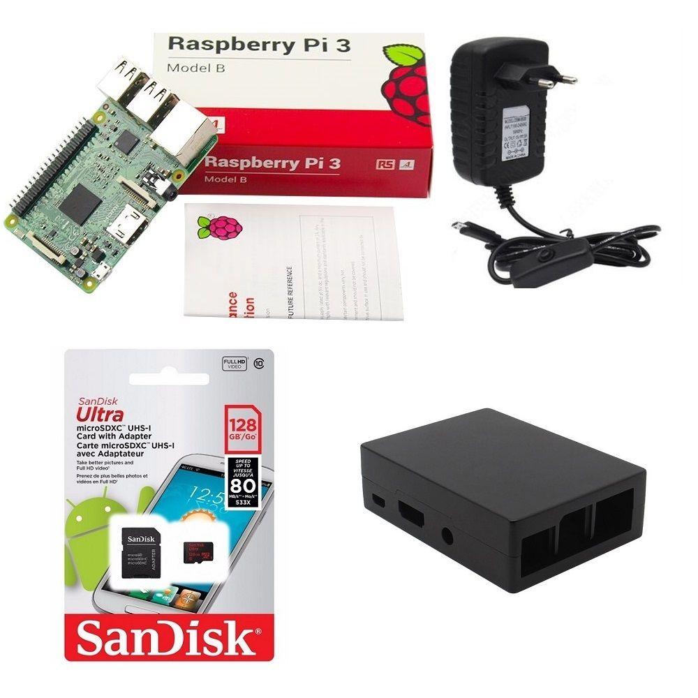 Kit Básico Raspberry Pi 3 - 128gb Case Alumínio