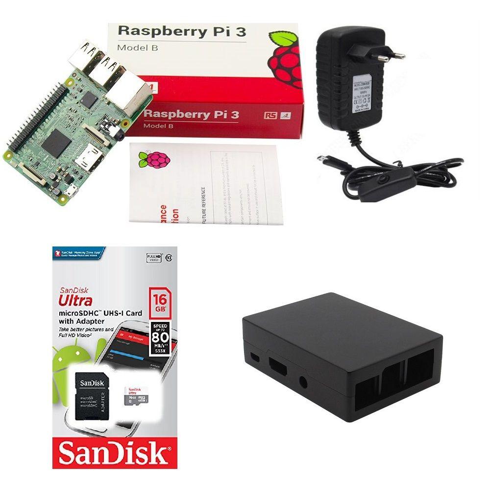 Kit Básico Raspberry Pi 3 - 16gb Case Alumínio