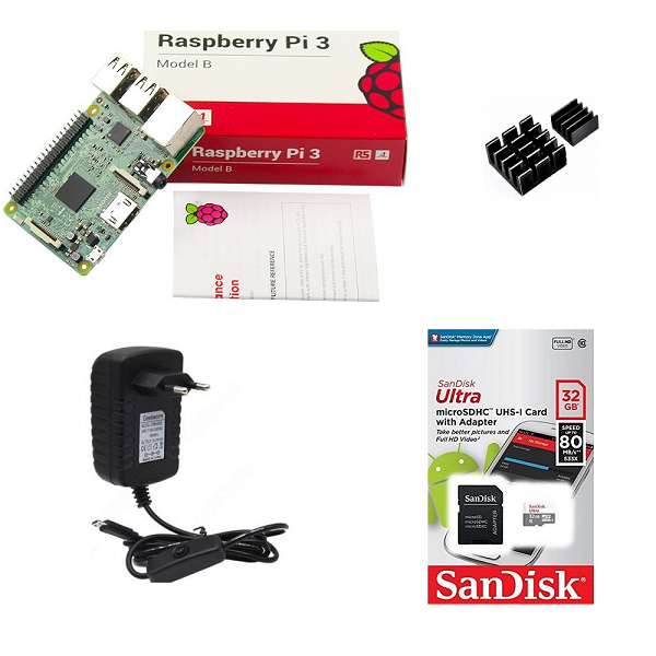 Kit Básico Raspberry Pi 3 - 32gb