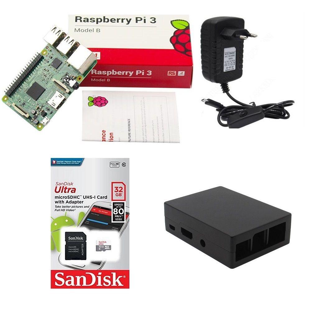 Kit Básico Raspberry Pi 3 - 32gb Case Alumínio