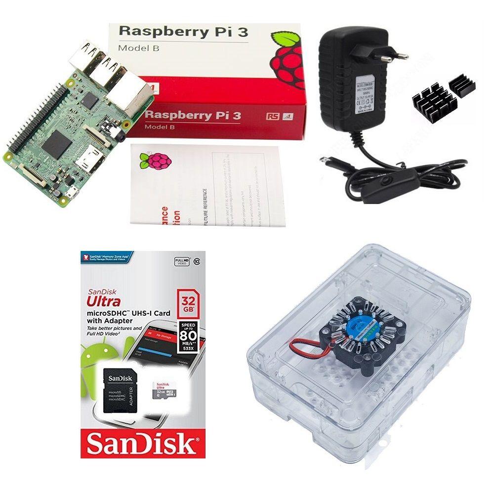 Kit Básico Raspberry Pi 3 - 32gb Case Premium Cooler