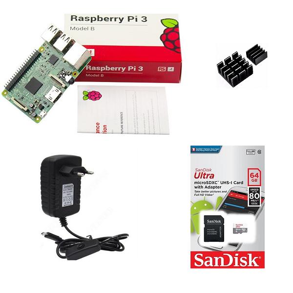 Kit Básico Raspberry Pi 3 - 64gb