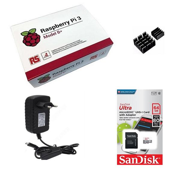 Kit Básico Raspberry Pi 3 B+ Plus - 64gb