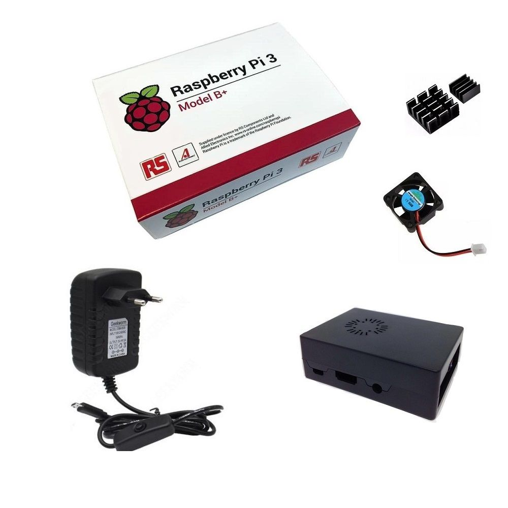 Kit Básico Raspberry Pi 3 B+ Plus - Case Com Cooler