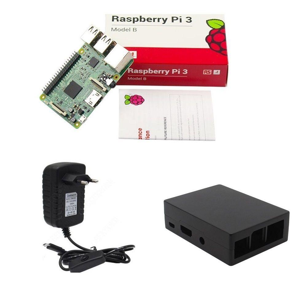 Kit Básico Raspberry Pi 3 - Case Alumínio