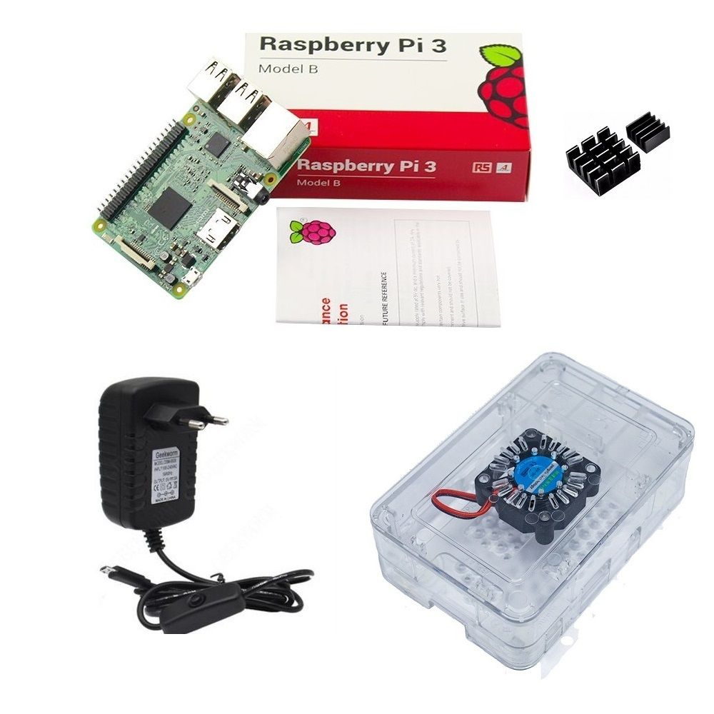 Kit Básico Raspberry Pi 3 - Case Premium Com Cooler