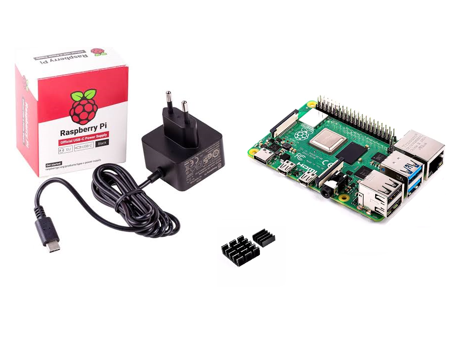 KIT BÁSICO RASPBERRY PI 4 + FONTE OFFICIAL