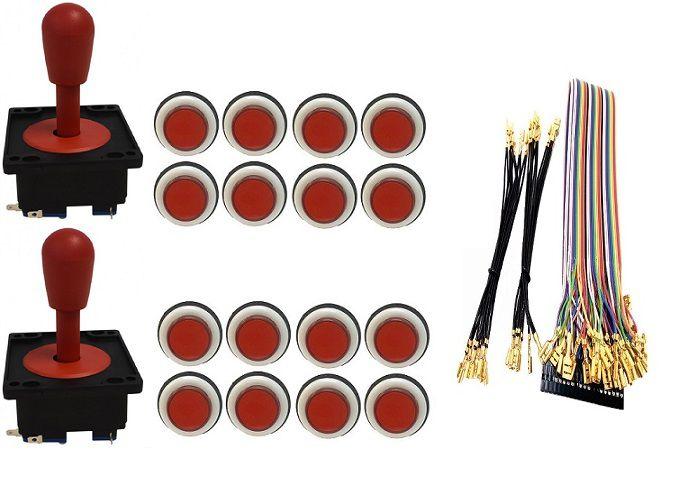 Kit Com 2 Comandos Aegir + 16 Botoes Corpo Branco + Gpio Vermelho