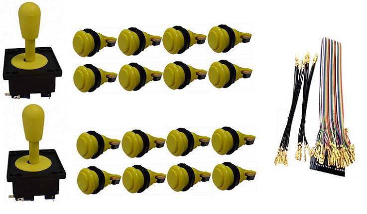 Kit Com 2 Comandos Aegir + 16 Botoes De Nylon + Cabo Gpio Amarelo