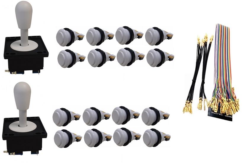 Kit Com 2 Comandos Aegir + 16 Botoes De Nylon + Cabo Gpio Branco