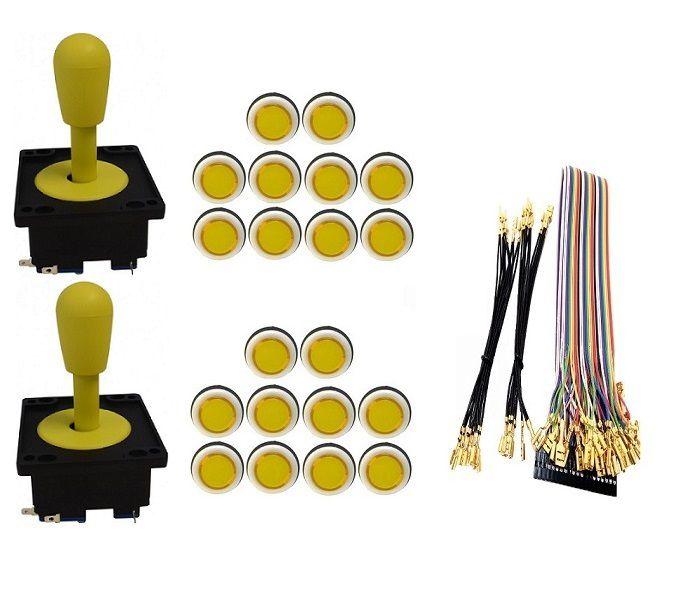 Kit Com 2 Comandos Aegir 20 Botões Corpo Branco e Gpio Amarelo