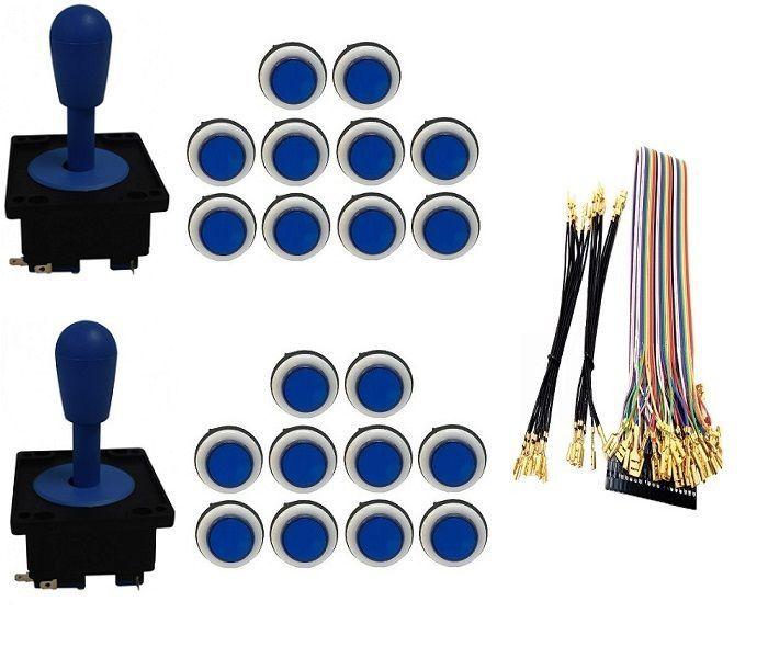 Kit Com 2 Comandos Aegir 20 Botões Corpo Branco e Gpio Azul