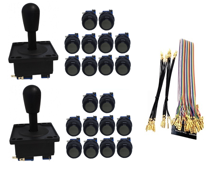 Kit com 2 Comandos Aegir 20 Botões Corpo Preto e Gpio Preto