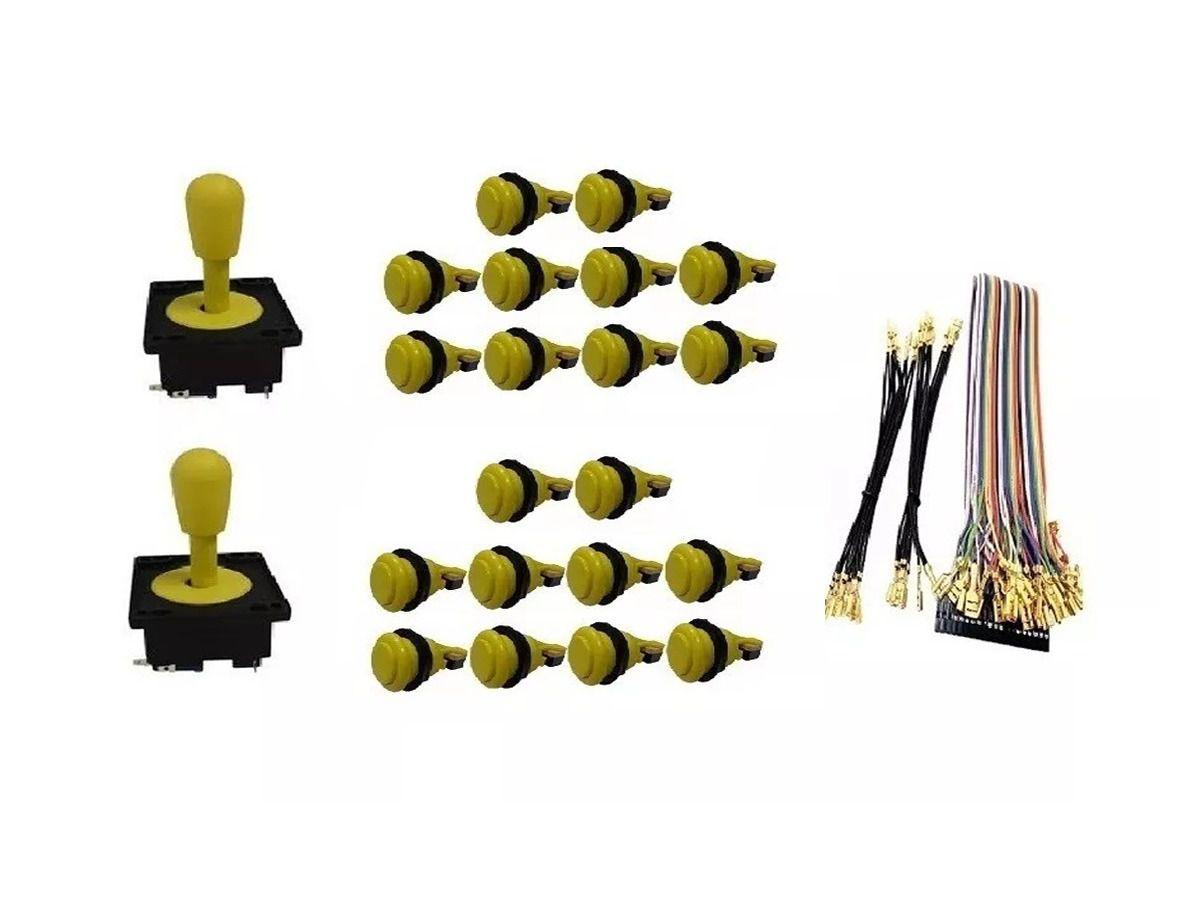 Kit Com 2 Comandos Aegir 20 Botões De Nylon e Cabo Gpio Amarelo