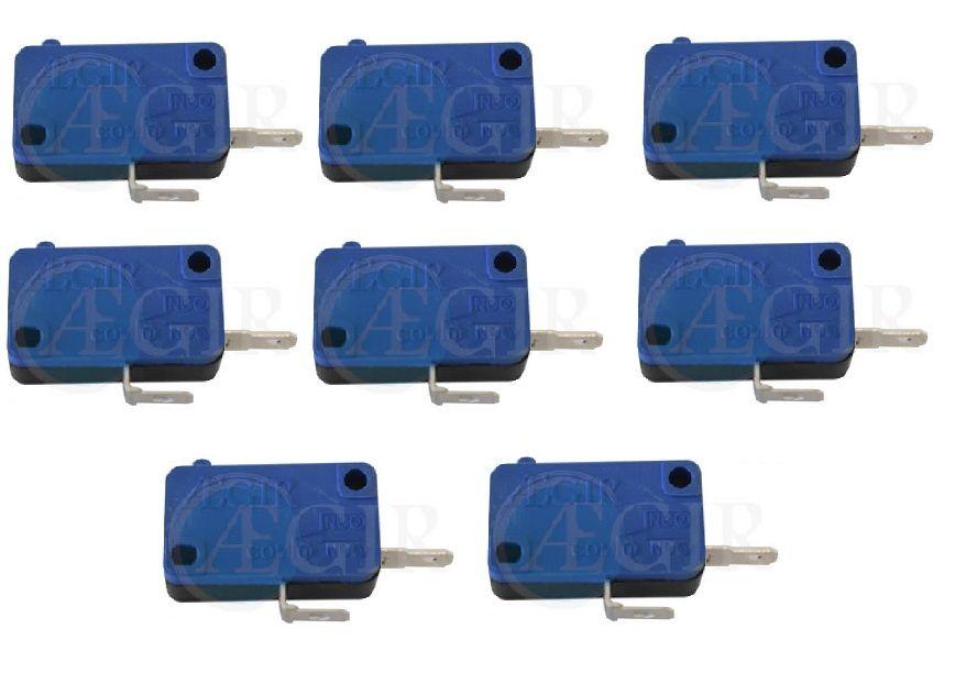 Kit com 8 Micros Switch Aegir Para Botão 2 Contatos