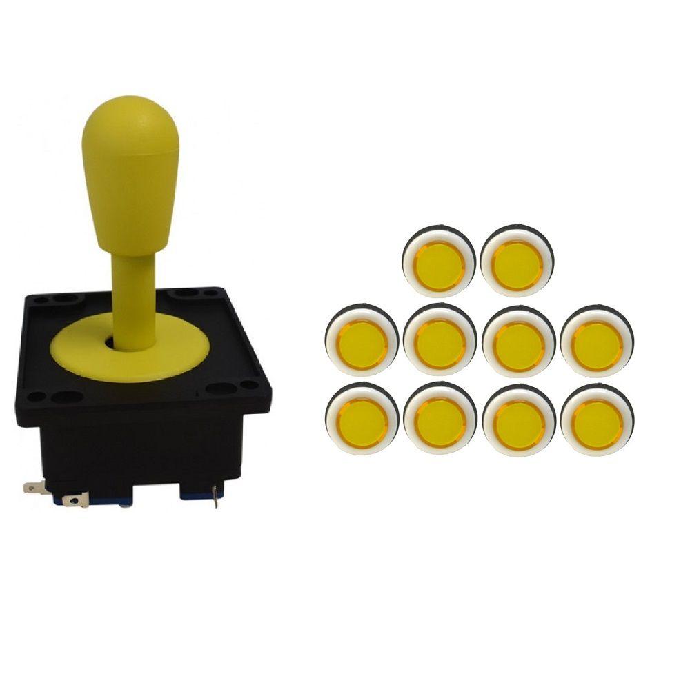 Kit Comando Aegir + 10 Botoes Corpo Branco Amarelo