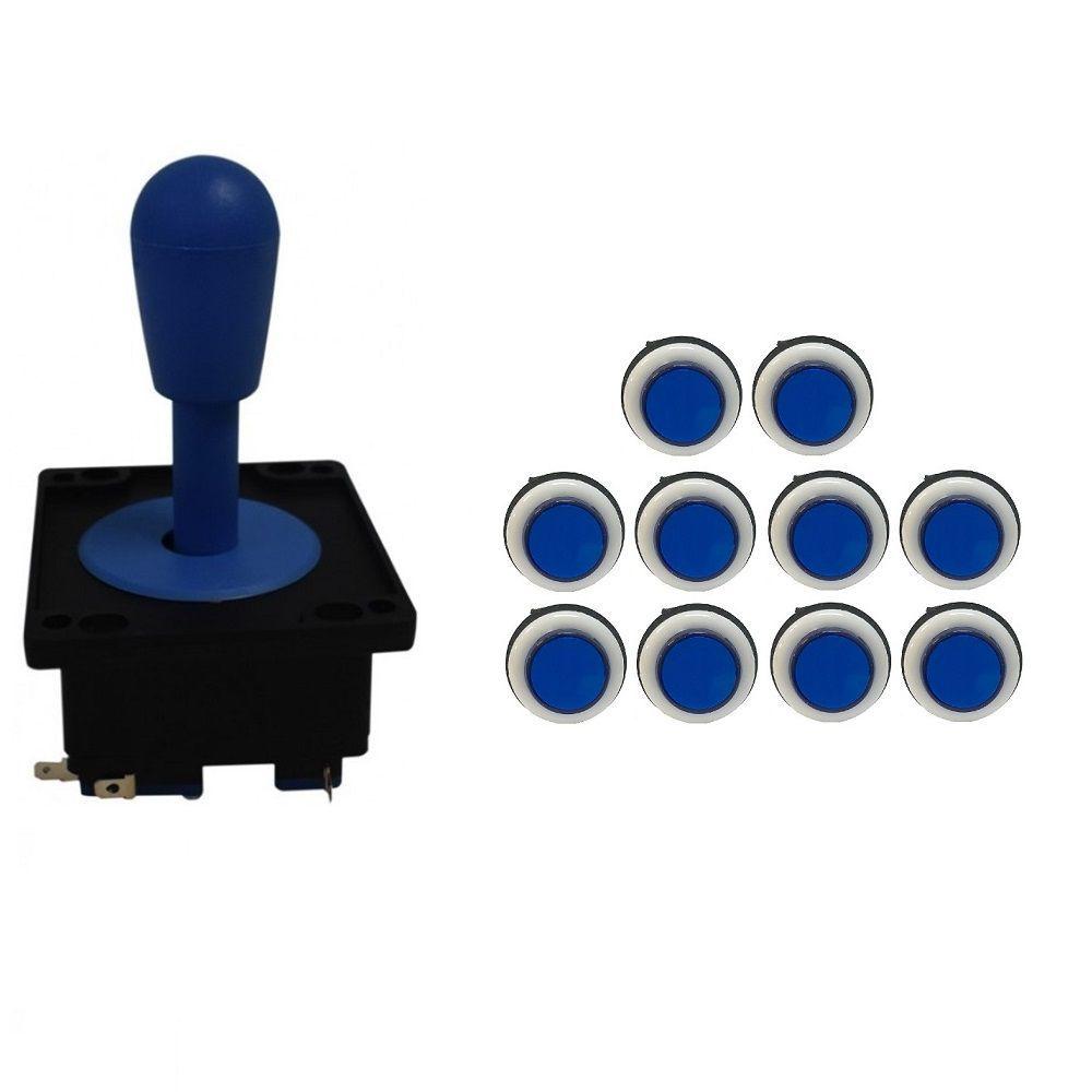 Kit Comando Aegir + 10 Botoes Corpo Branco Azul