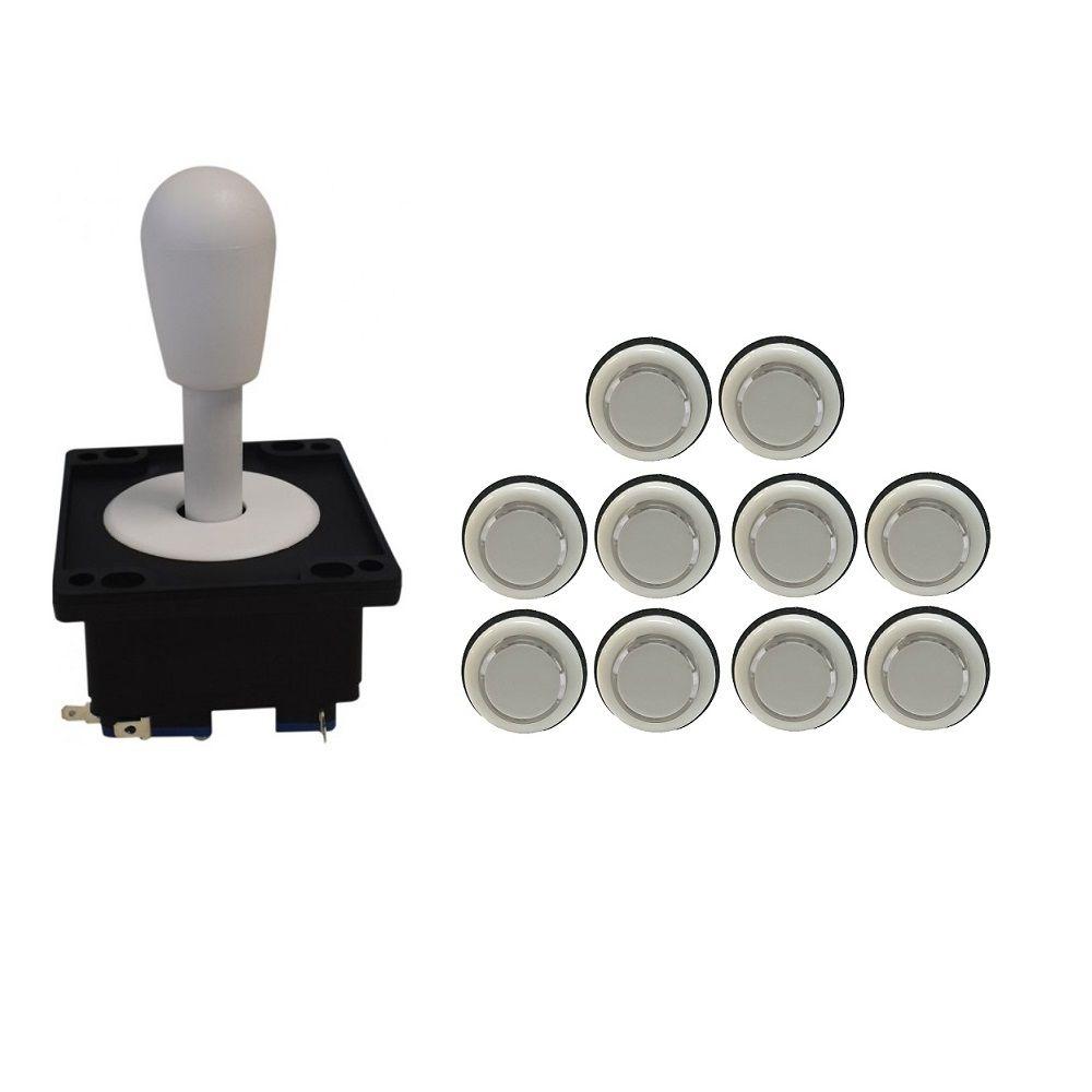 Kit Comando Aegir + 10 Botoes Corpo Branco Branco
