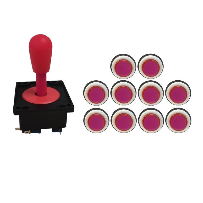 Kit Comando Aegir + 10 Botoes Corpo Branco Rosa