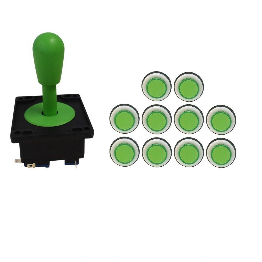 Kit Comando Aegir + 10 Botoes Corpo Branco Verde