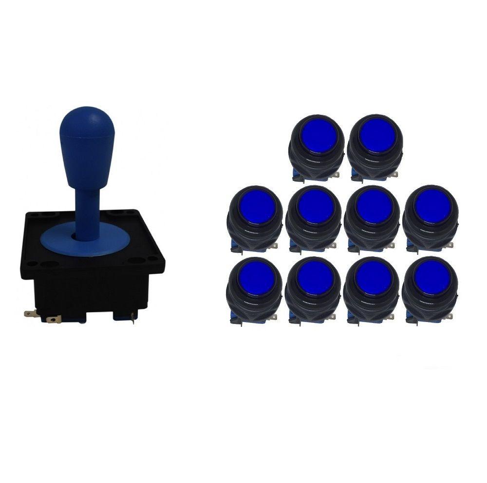 Kit Comando Aegir + 10 Botoes Corpo Preto - Azul