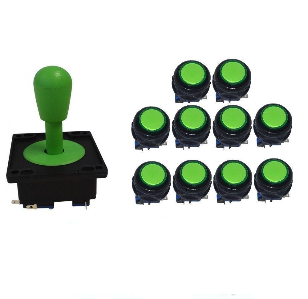 Kit Comando Aegir + 10 Botoes Corpo Preto - Verde