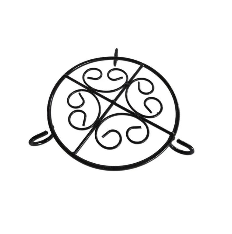Kit Forma De Pizza 37 Centímetros Em Pedra Sabão+ Suporte
