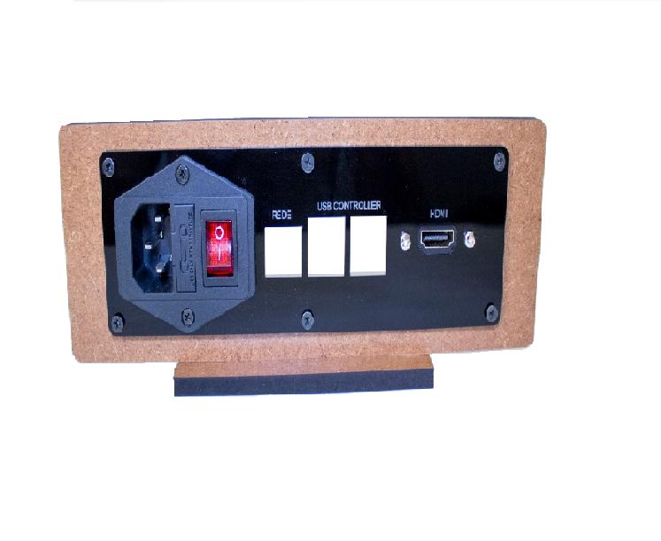 Kit Painel Arcade Raspberry Pi 3 Com Tomada, Botão E Cabos