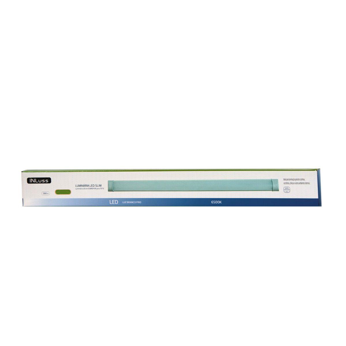 Luminária Led de Teto Linear 36W 120cm Branco Frio Bivolt