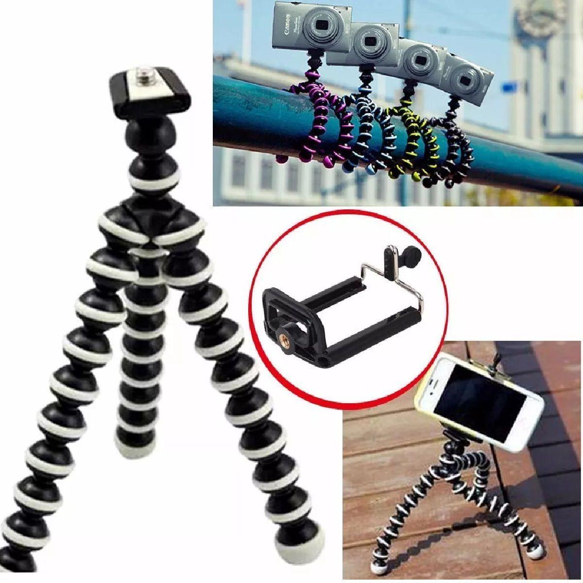 Mini Tripé Flexível com Clipe Ajustável para Smartphone