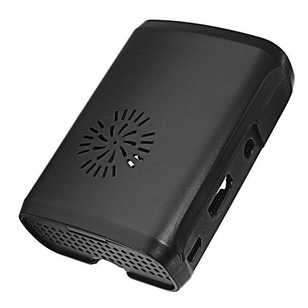 Nova Case Abs Preta Com Cooler para Raspberry Pi 3