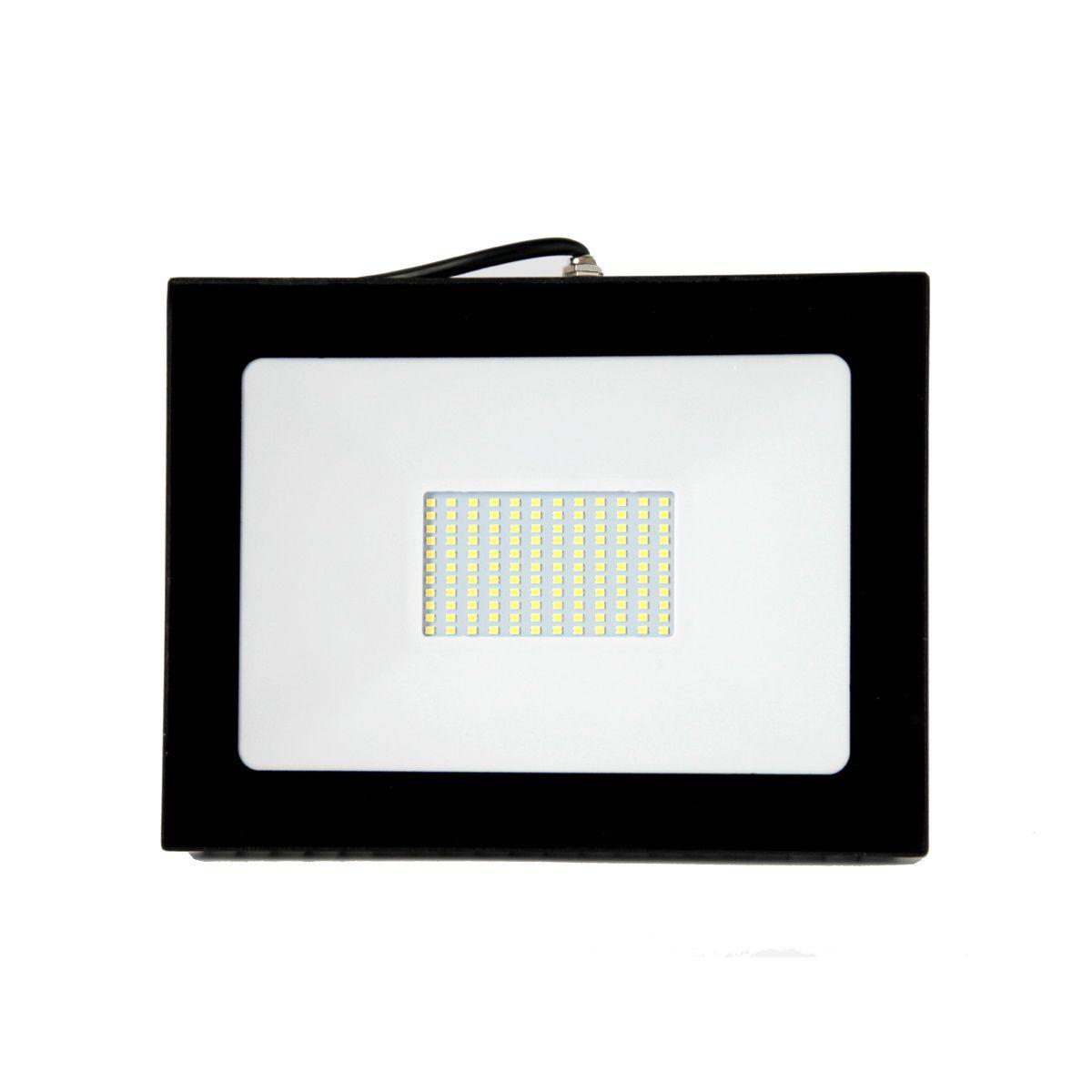 Projetor Led Super Slim 100W Branco Frio Bivolt