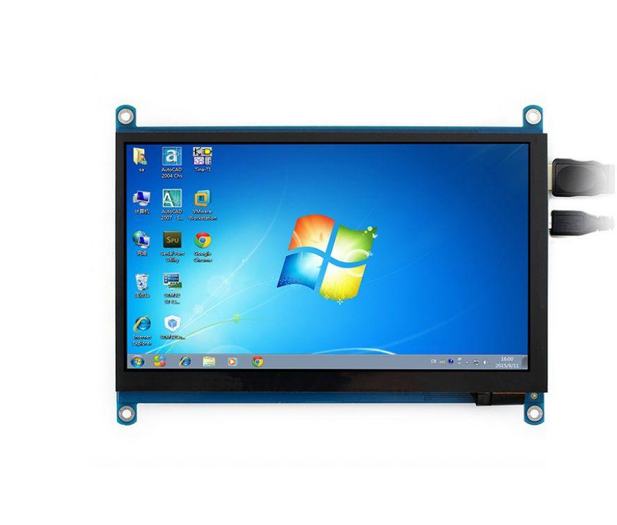 WAVESHARE LCD 7 INCH HDMI 1024X600 ( SEM CASE )