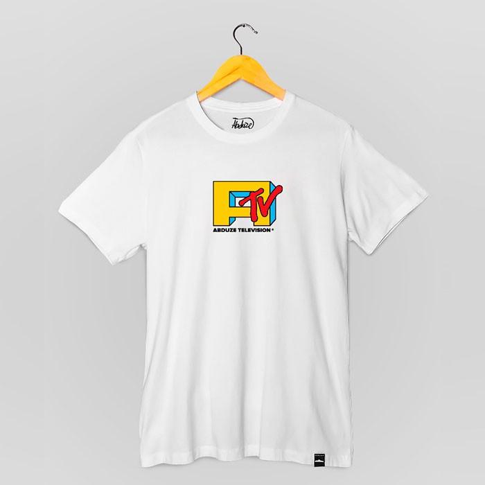 Camiseta Abduze TV - Branca