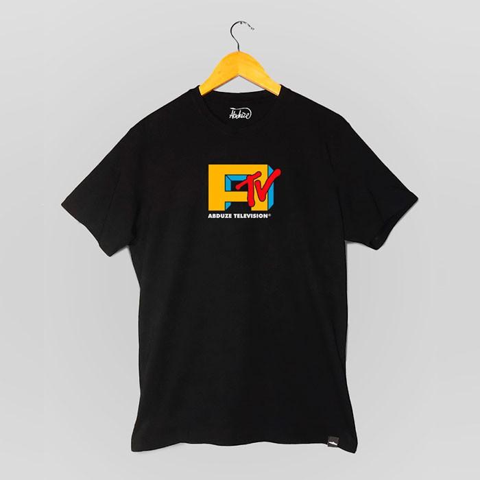 Camiseta Abduze TV - Preta