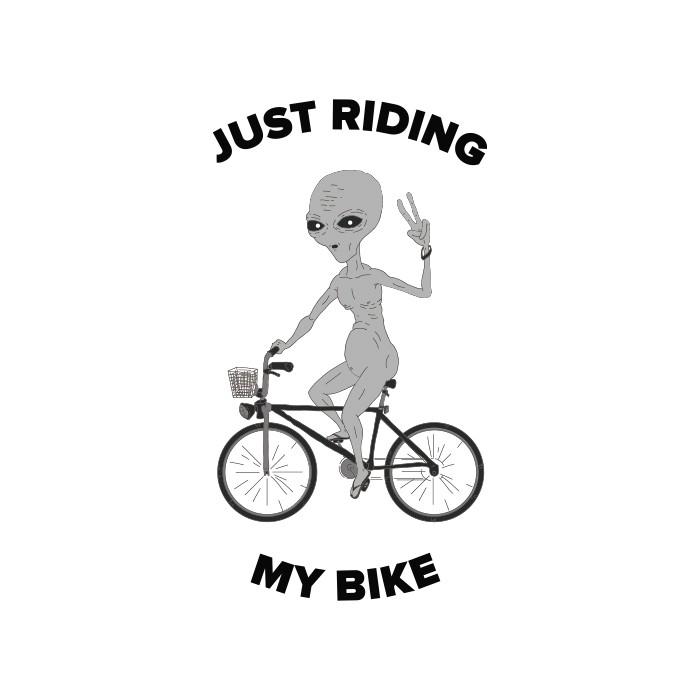Camiseta Riding My Bike - Branca