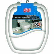 Assento Sanitário Almofadado Premium Thema Tampa Vaso Branco HERC