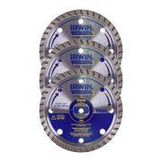 Disco Diamantado Turbo Premium 110mm Irwin - 3 Unidades